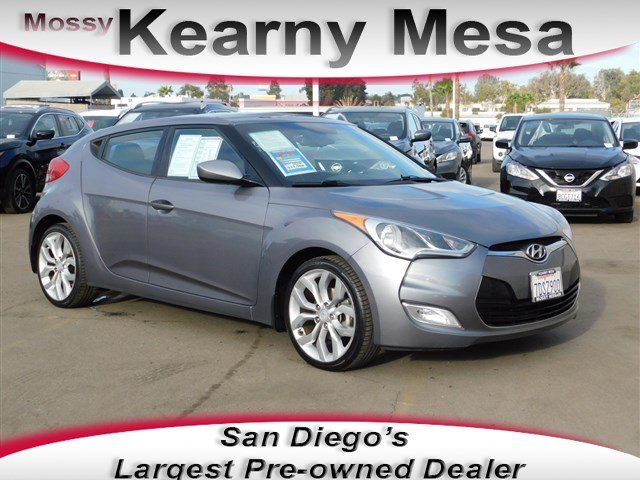 2013 Hyundai Veloster With Black Int