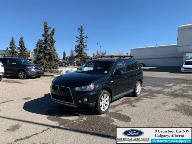 2012 Mitsubishi Outlander ES  |LEATHER| SUNROOF| AWD| - $108 B/W