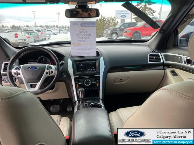 2015 Ford Explorer Limited  |LEATHER| SUNROOF| NAV| SECONF ROW BUCKETS| $181 B/W
