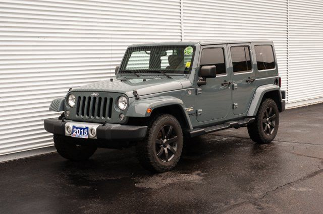 2015 Jeep Wrangler Unlimited Sahara / ACCIDENT FREE / HEATED LEATHER / TOW PKG / NAV