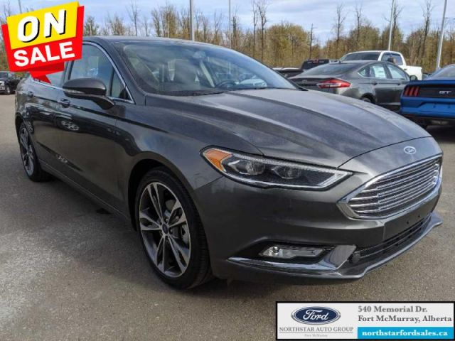 2017 Ford Fusion Titanium  |2.0L|Rem Start|Nav|Moonroof|Certified Pre-Owned|Low M