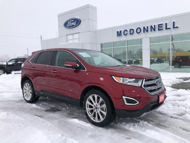 2018 Ford Edge Titanium ,AWD, Leather, Nav, Moonroof