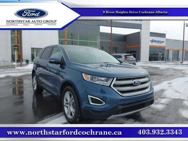 2018 Ford Edge Titanium  |2.9% CPO UP TO 72 MONTHS|LEATHER|ROOF|NAVI  $237 B/W